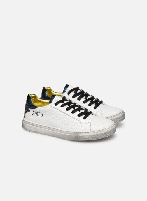 Baskets Zadig & Voltaire Sneakers X19009 Blanc vue 3/4