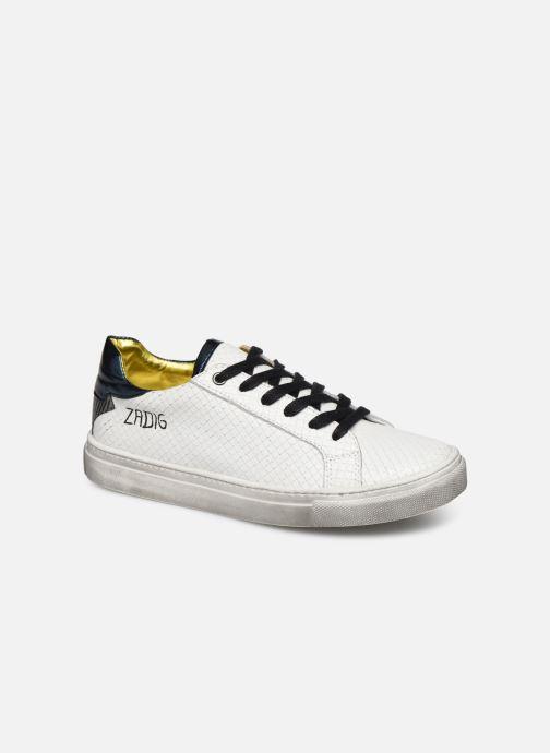 Baskets Zadig & Voltaire Sneakers X19009 Blanc vue détail/paire