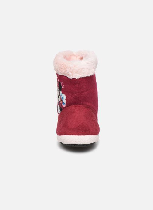 Chaussons Minnie Stick Bordeaux vue portées chaussures