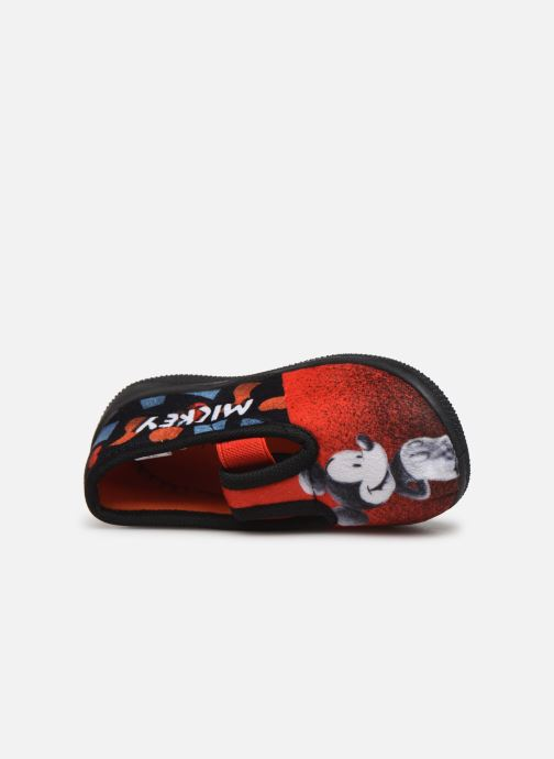 Chaussons Mickey Mouse Spectacle Rouge vue gauche