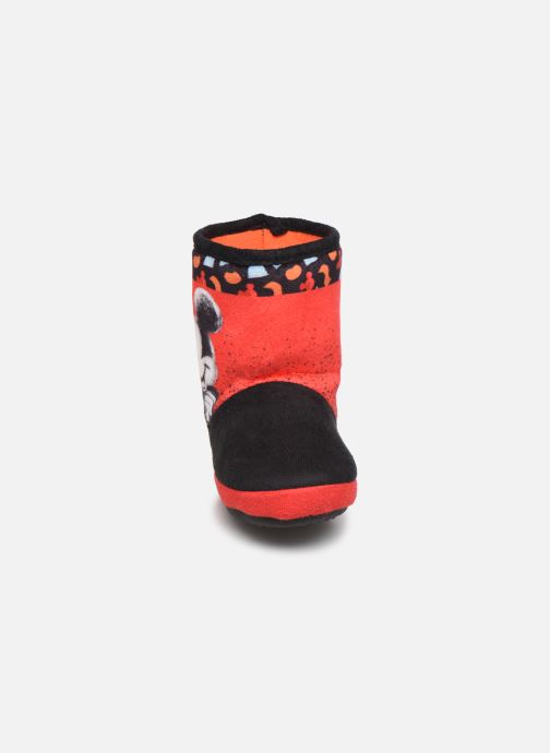 Chaussons Mickey Mouse Stick Rouge vue portées chaussures