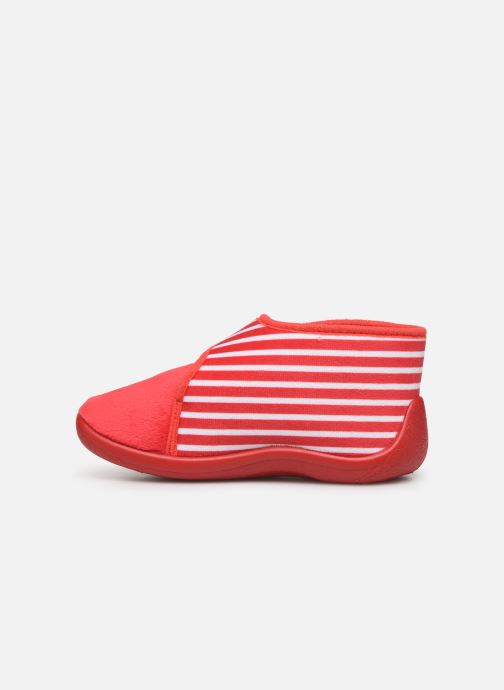 Slippers Armor Lux Chaussons Galia Red front view