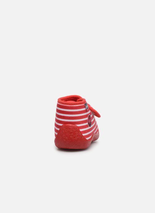 Pantuflas Armor Lux Chaussons Galia Rojo vista lateral derecha