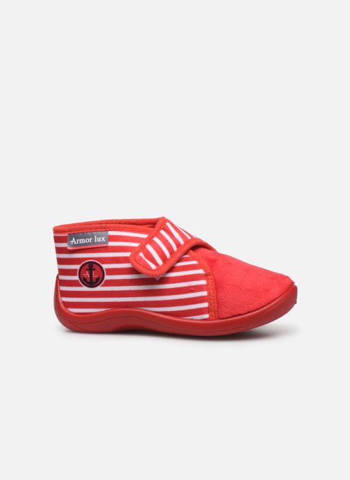 Pantoffels Armor Lux Chaussons Galia Rood achterkant
