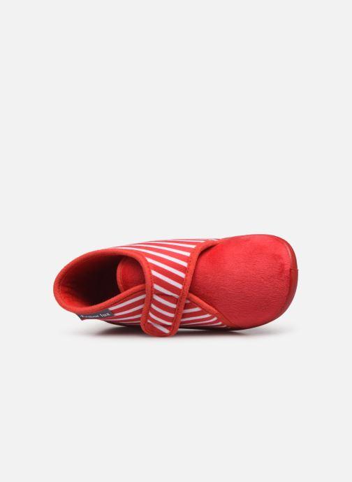 Pantuflas Armor Lux Chaussons Galia Rojo vista lateral izquierda
