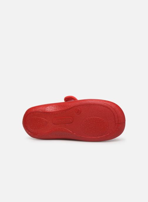 Chaussons Armor Lux Chaussons Galia Rouge vue haut