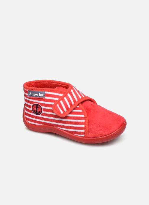 Slippers Armor Lux Chaussons Galia Red detailed view/ Pair view