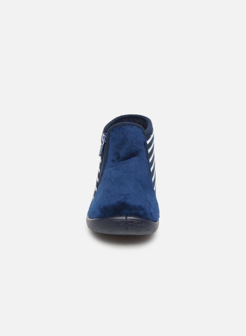 Hausschuhe Armor Lux Chaussons Graff blau schuhe getragen
