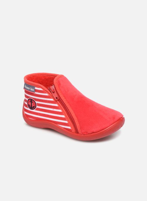 Slippers Armor Lux Chaussons Graff Red detailed view/ Pair view
