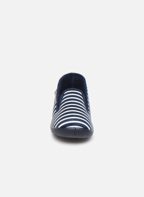 Chaussons Armor Lux Chaussons Gentil Bleu vue portées chaussures