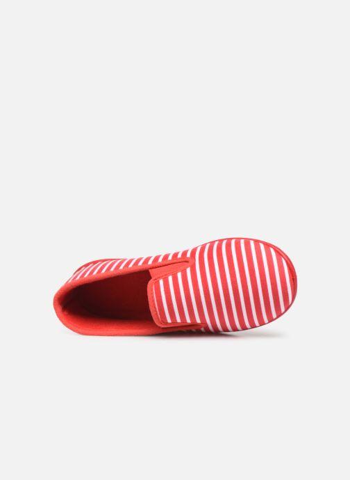 Pantuflas Armor Lux Chaussons Sentil Rojo vista lateral izquierda