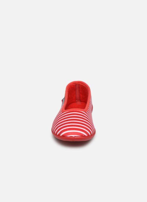 Chaussons Armor Lux Chaussons Salon Rouge vue portées chaussures