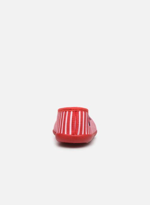 Pantuflas Armor Lux Chaussons Salon Rojo vista lateral derecha