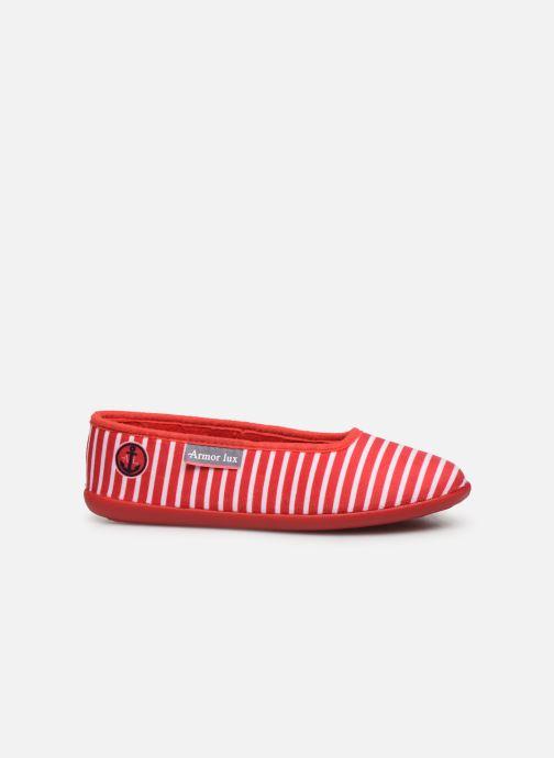 Pantuflas Armor Lux Chaussons Salon Rojo vistra trasera