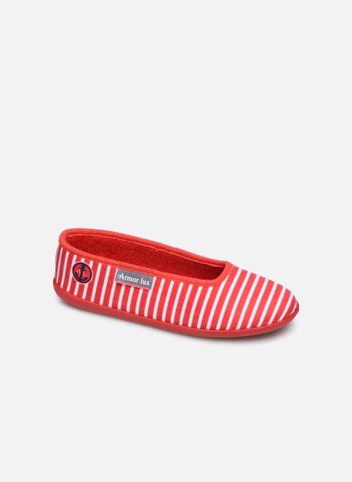 Pantuflas Armor Lux Chaussons Salon Rojo vista de detalle / par