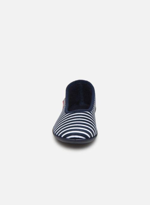 Chaussons Armor Lux Chaussons Salon Bleu vue portées chaussures