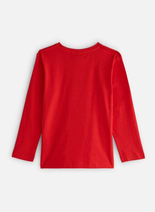 Vêtements BOSS T-shirt J25E45 Rouge vue bas / vue portée sac