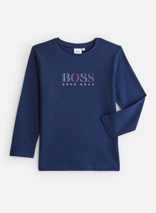 Tøj BOSS T-shirt J25E45 Blå detaljeret billede af skoene