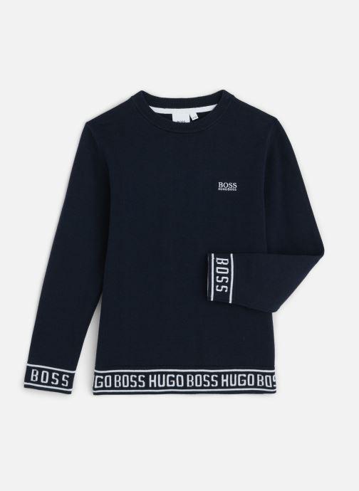 Vêtements BOSS Pull J25E11 Bleu vue détail/paire
