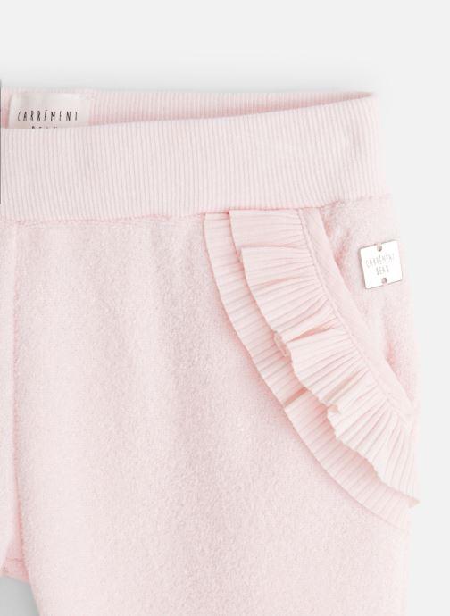 Vêtements CARREMENT BEAU Pantalon Y14136 Rose vue portées chaussures