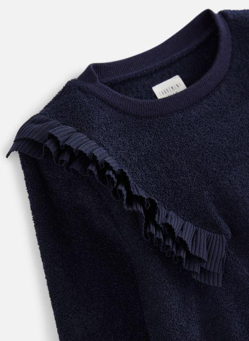Vêtements CARREMENT BEAU Sweat Y15314 Bleu vue portées chaussures