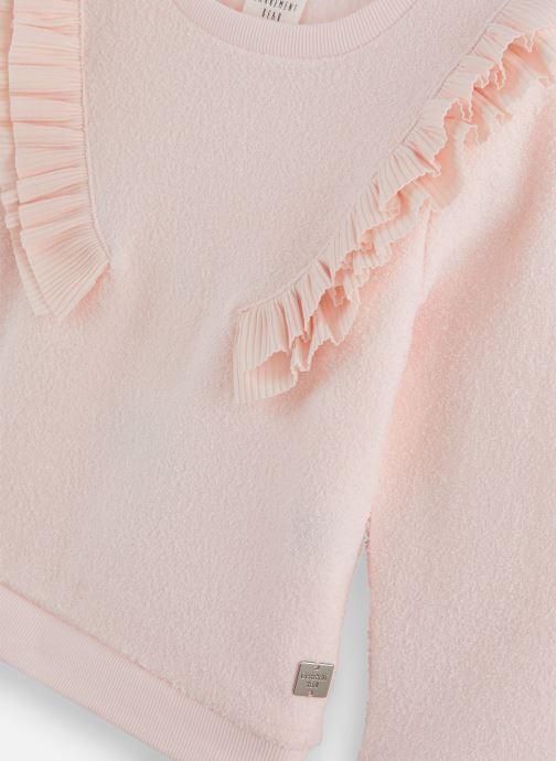 Vêtements CARREMENT BEAU Sweat Y15314 Rose vue portées chaussures