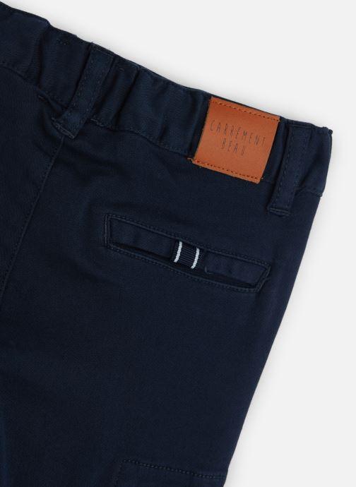 Vêtements CARREMENT BEAU Pantalon Y24117 Bleu vue portées chaussures