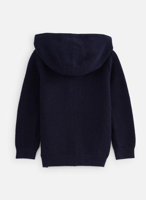 Vêtements CARREMENT BEAU Gilet Y25269 Bleu vue bas / vue portée sac