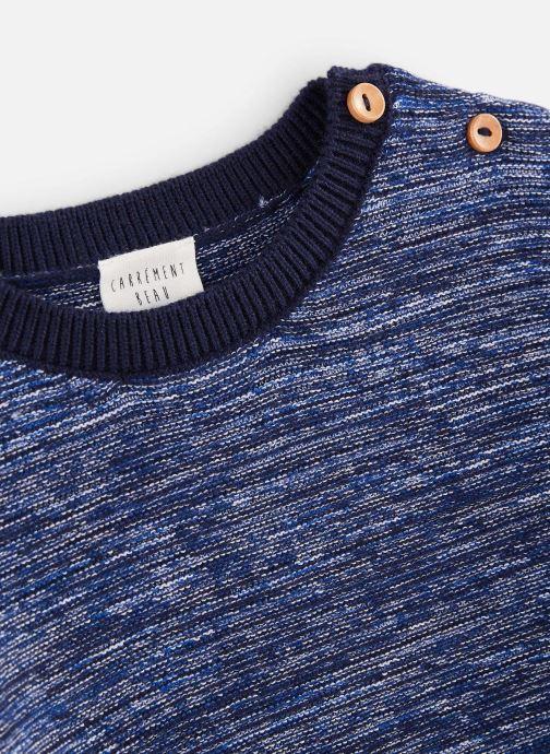 Vêtements CARREMENT BEAU Pull Y25276 Bleu vue portées chaussures