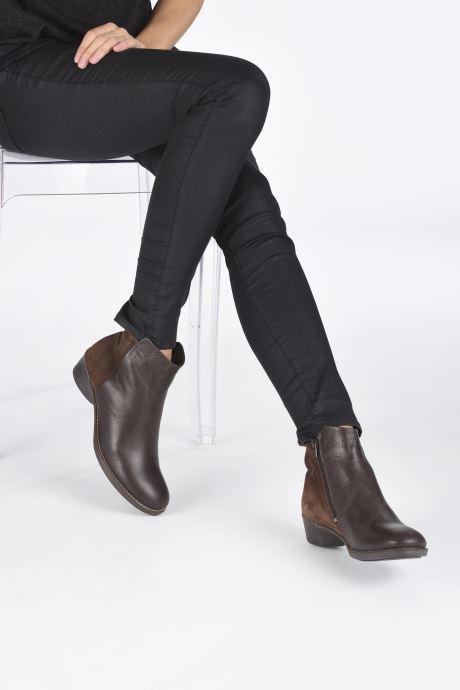 Bottines et boots TBS Gabriel Marron vue bas / vue portée sac