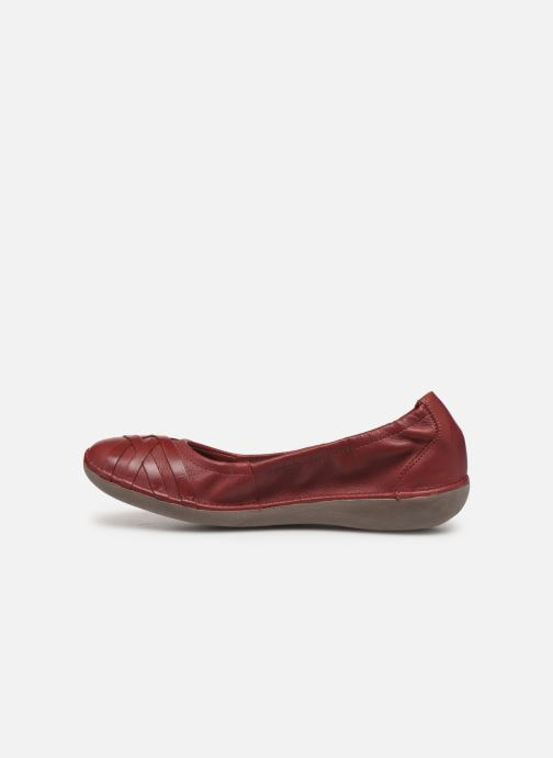 Ballerines TBS Maiwenn Rouge vue face