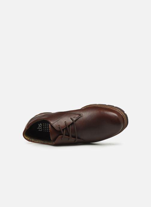 Zapatos con cordones TBS Painton Marrón vista lateral izquierda