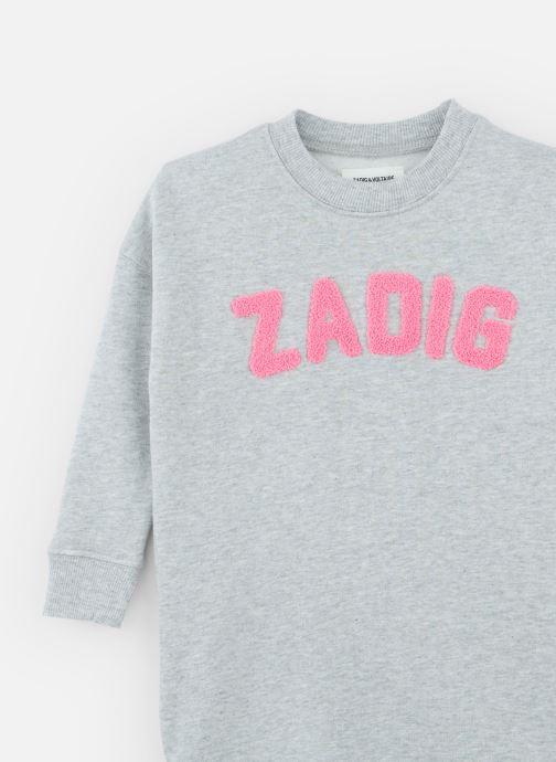 Vêtements Zadig & Voltaire Robe X12106 Gris vue portées chaussures