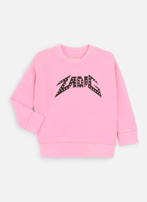Vêtements Zadig & Voltaire Sweat X15165 Rose vue détail/paire