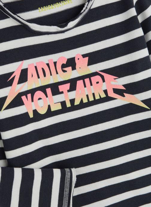 Vêtements Zadig & Voltaire T-shirt X15173 Bleu vue portées chaussures