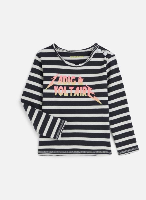 Vêtements Zadig & Voltaire T-shirt X15173 Bleu vue détail/paire