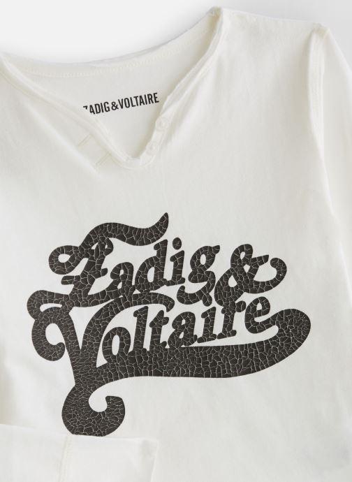 Vêtements Zadig & Voltaire T-shirt X15175 Blanc vue portées chaussures