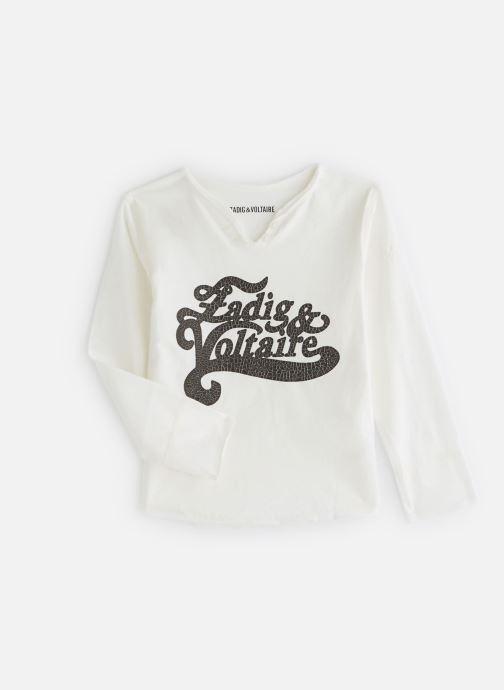 Tøj Zadig & Voltaire T-shirt X15175 Hvid detaljeret billede af skoene