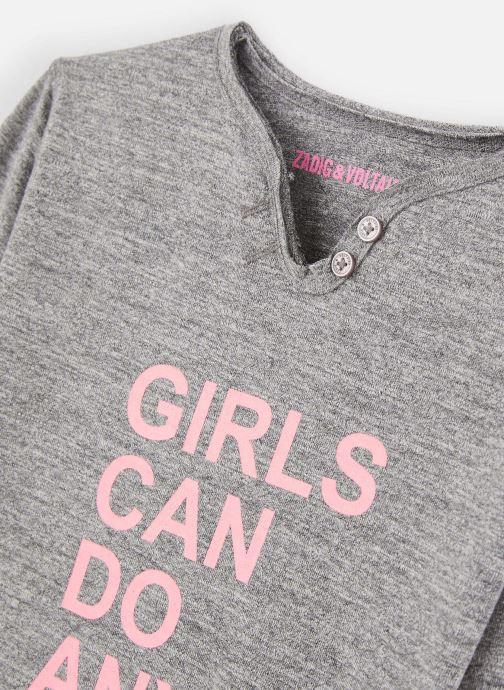 Vêtements Zadig & Voltaire T-shirt X15176 Gris vue portées chaussures