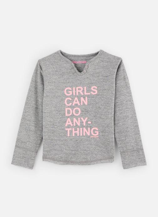 Vêtements Zadig & Voltaire T-shirt X15176 Gris vue détail/paire