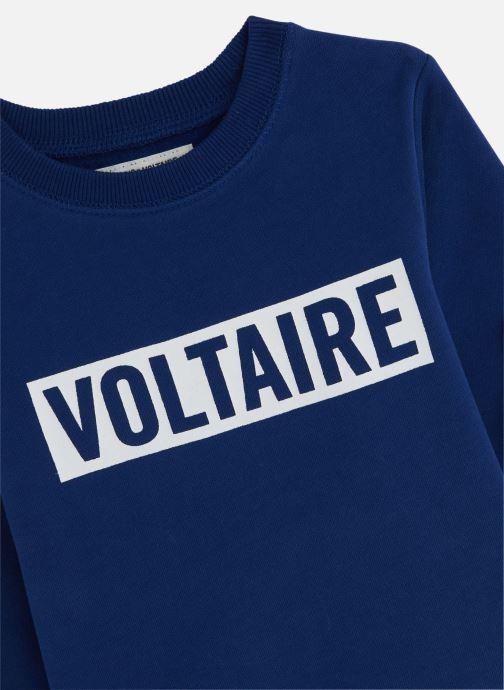 Vêtements Zadig & Voltaire Sweat X25157 Bleu vue portées chaussures