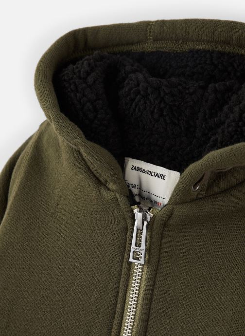 Vêtements Zadig & Voltaire Sweat X25159 Vert vue portées chaussures
