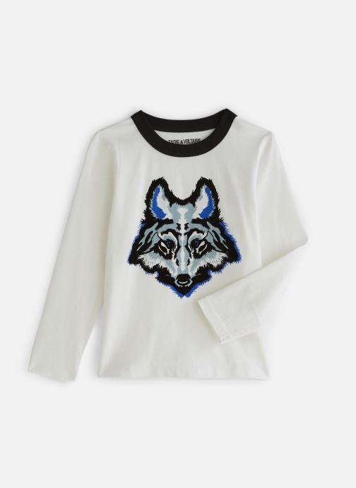 Vêtements Zadig & Voltaire T-shirt X25168 Blanc vue détail/paire