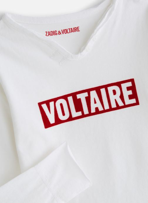 Kleding Zadig & Voltaire T-shirt X25174 Wit model