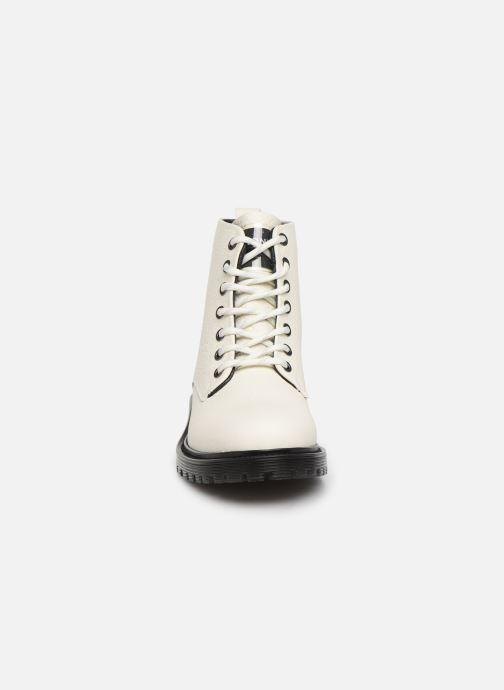 Bottines et boots Bronx RIFKA CHUNKY Blanc vue portées chaussures