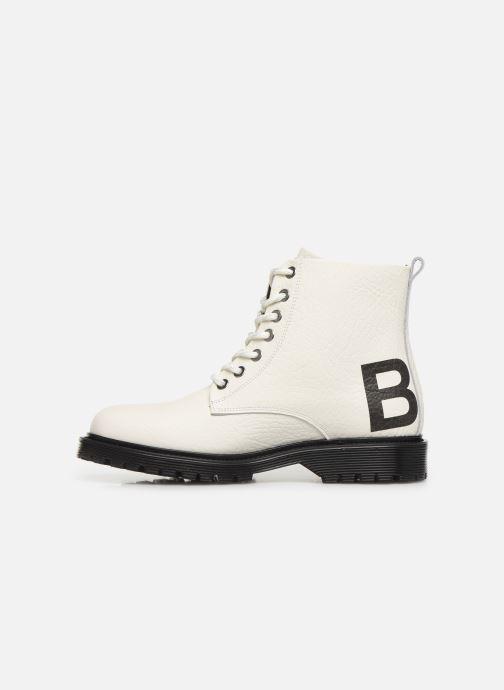 Bottines et boots Bronx RIFKA CHUNKY Blanc vue face