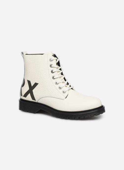 Bottines et boots Bronx RIFKA CHUNKY Blanc vue détail/paire