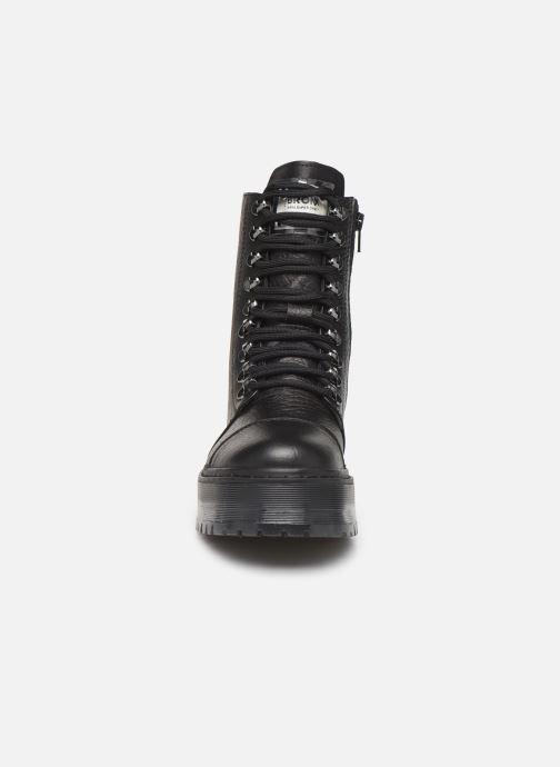 Bottines et boots Bronx RIFKA SUPER CHUNKY Noir vue portées chaussures