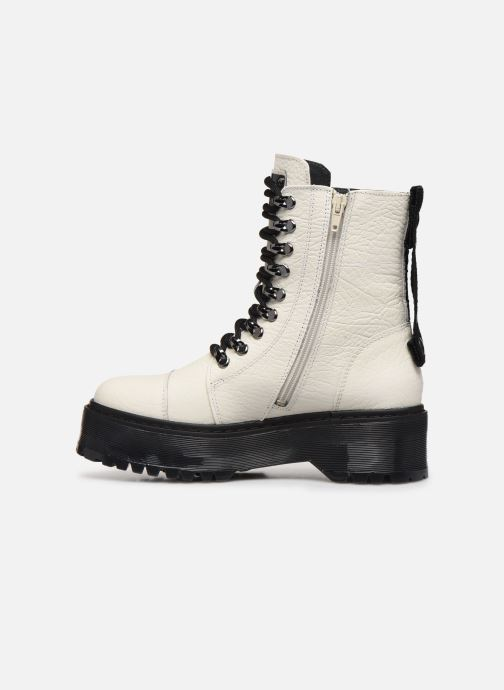 Bottines et boots Bronx RIFKA SUPER CHUNKY Blanc vue face