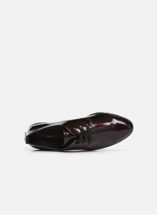 Zapatos con cordones Marco Tozzi 2-2-23201-23 Vino vista lateral izquierda